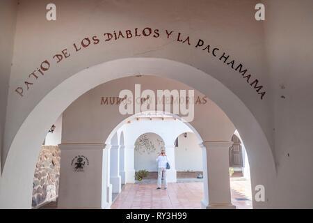 Argentina, Salta Province, Valles Calchaquies, Cachi, P?o Pablo D?az archeologic museum - Stock Image