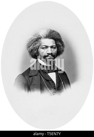 Frederick Douglass (1818-1895), portrait by John White Hurn, 1862 - Stock Image