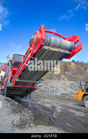 A conveyor in a quarry. - Stock Image