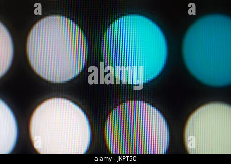 Light emitting diodes nacro for LED display. Digital LED screen background - Stock Image
