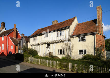 A house in the picturesque market town of Lavenham, Suffolk, England, UK. - Stock Image