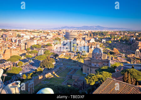Historic Rome aerial cityscape view, capital of Italy - Stock Image