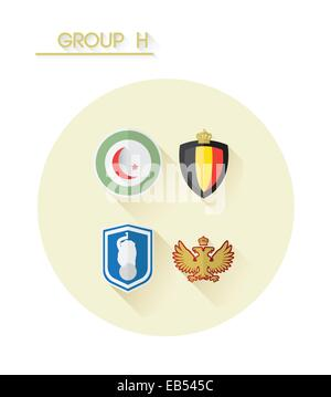 Group h with country crests - Stock Image
