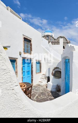 Blue & White Santorini - Stock Image