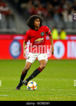 Optus Stadium, Burswood, Perth, W Australia. 17th July 2019. Manchester United versus Leeds United; pre-season tour; Tahith Chong of Manchester United breaks forward on the ball Credit: Action Plus Sports Images/Alamy Live News - Stock Image