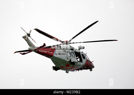 Air,Sea,Rescue,Helicopter,The Solent,Cowes,Isle of Wight,England,UK, - Stock Image