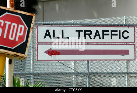 Vintage Traffic Sign - Stock Image