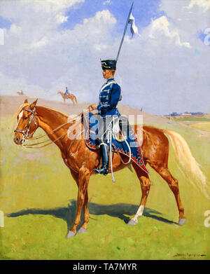 Frederic Remington, The Hussar, painting, 1893 - Stock Image