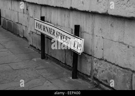 Fournier Street, E1, London - Stock Image