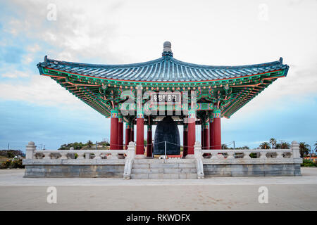 The Korean Bell of Friendship in Los Angeles. - Stock Image