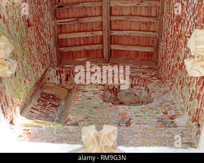A view of the unfinished room above the South Porch in the parish church of St Mary at Shelton, Norfolk, England, United Kingdom, Europe. - Stock Image