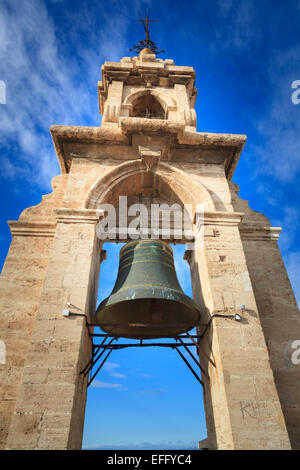 The Miguelete Bell Tower above Valencia Cathedral Spain - Stock Image