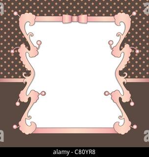 vintage decorative background - Stock Image