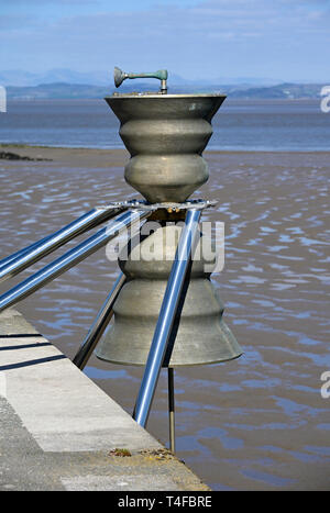 Time and Tide Bell. Stone Jetty, Morecambe, Lancashire, England, United Kingdom, Europe. - Stock Image