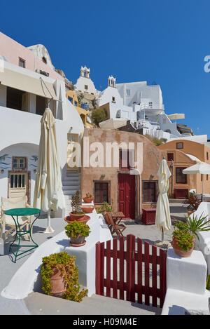 Beautiful streets of oia village Santorini - Stock Image