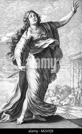 Suicide of Lucretia, 6th Century BC - Stock Image