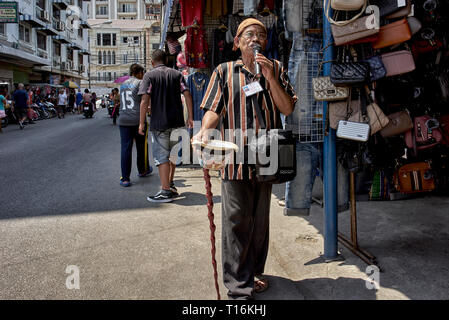 Street singer Thailand Southeast Asia - Stock Image