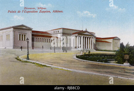 Zappeion Exhibition Hall, Athens, Greece, used during the 1896 Olympic Games. - Stock Image