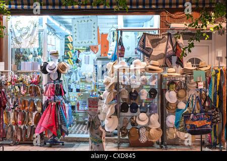 Greek gift shop Agios Nikolaos, Crete, Greece - Stock Image