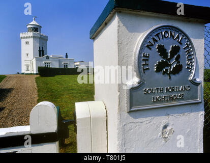 South Foreland Lighthouse, St Margarets at Cliffe, Dover, Kent, England, UK - Stock Image