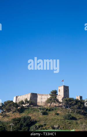 Sohail Castle, Fuengirola, Costa del Sol, Spain. - Stock Image
