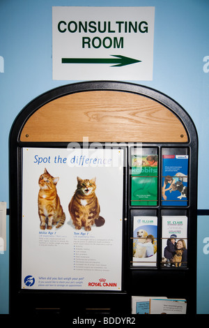 Waiting Room Display in Veterinary clinic - Stock Image