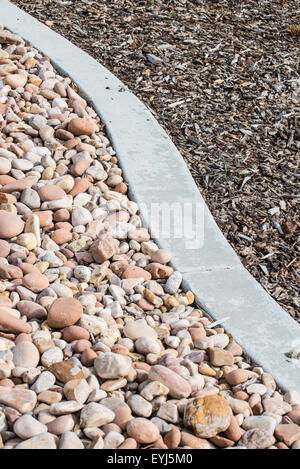 Xeriscape Landscaping around the University of Utah, using drought resistant plants and native species. - Stock Image
