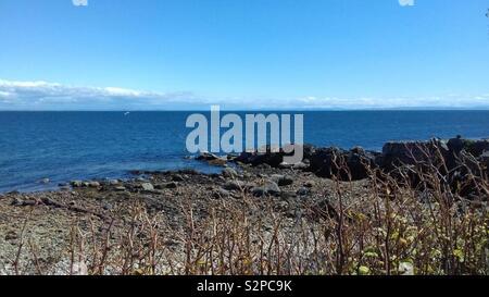 Sea and sky, Isle of Arran, Scotland - Stock Image