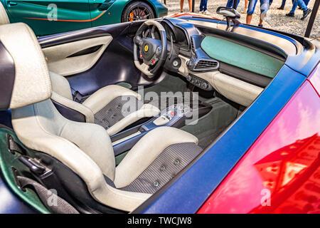 Piedmont Turin - Turin auto show 2019  - Valentino park - Valentino castle - Ferrari Pininfarina Sergio Concept - Stock Image