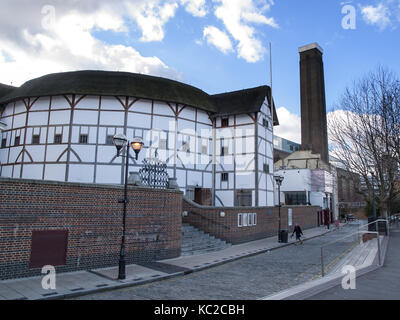 Shakespeare's Globe, New Globe Walk, London, England, UK - Stock Image