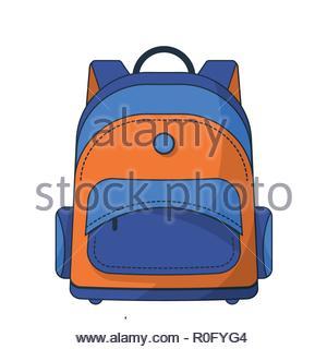 Colorful school bag - Stock Image