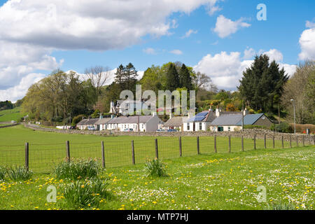 Houses in the village of Moniaive, Dumfries and Galloway, Scotland, UK - Stock Image