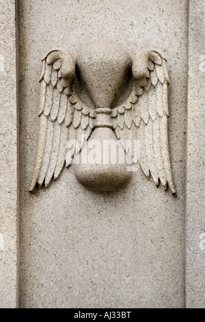 Time Flies Carving Entrance to the Granary Burying Ground cemetery - Stock Image