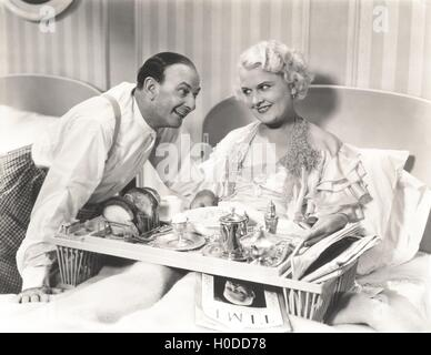 Breakfast in bed - Stock Image