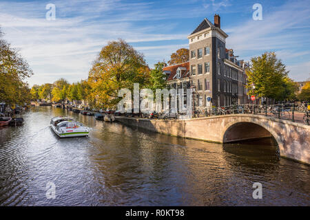 Amsterdam canel, canal cruise - Stock Image