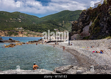 Small beach near Skopelos Town, Northern Sporades Greece. - Stock Image