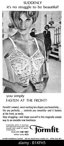 1965 Magazine Advertisement for Formfit front opening bras FOR EDITORIAL USE ONLY - Stock Image