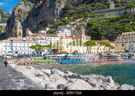 Amalfi, Amalfi coast, Salerno, Campania, Italy. - Stock Image