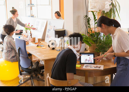 Creative designers working in office - Stock Image