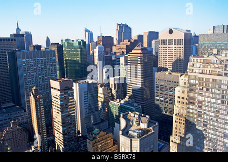 NEW YORK CITY, NYC, MANHATTAN, MIDTOWN, OUTDOORS, AERIAL, AERIAL VIEW, SONY BUILDING, SKYSCRAPERS, CONDO, COOP, - Stock Image