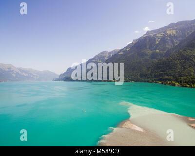 The beautiful south side lake of Interlaken, Switzerland, europe - Stock Image