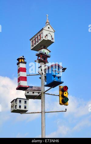 Birdhouses - Stock Image