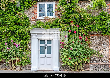Entrance of a house in Wallingford - Stock Image