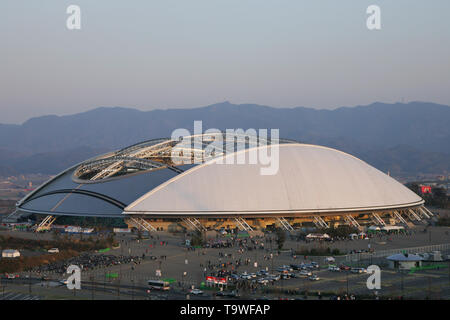 FILE : General view of Oita Stadium venue for the Rugby World Cup 2019 which will be held in Japan. Image taken MARCH 30, 2006 during the KIRIN Word Challenge Cup 2006 between Japan 1-0 Ecuador at Oita Big Eye, Oita, Japan. Credit: Jun Tsukida/AFLO/Alamy Live News - Stock Image