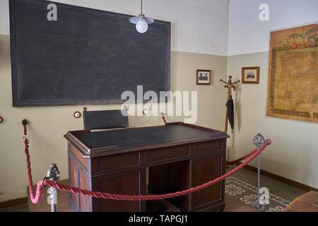 Classroom of Antonio Machado, Baeza, Jaén province, Andalusia, Spain. - Stock Image