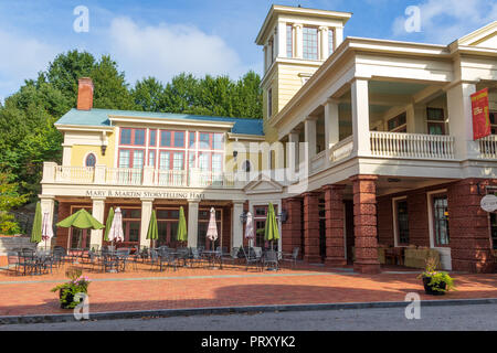 JONESBOROUGH, TN, USA-9/29/18: The Mary B. Martin Storytelling Hall, on main street, - Stock Image