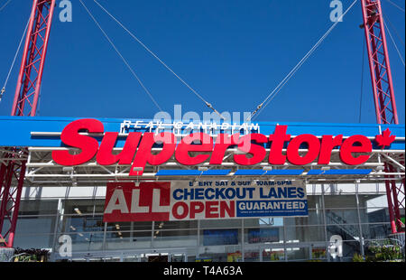 Real Canadian Superstore in Coquitlam, British Columbia, Canada (Metro Vancouver). - Stock Image