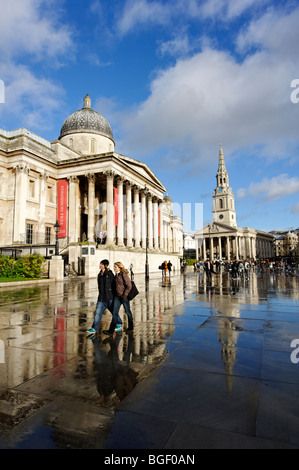 The National Gallery. London 2009 - Stock Image