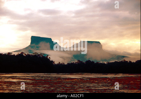 Tepuis Devils Canyon Venezuela - Stock Image