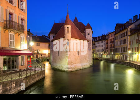 Night Annecy, France - Stock Image